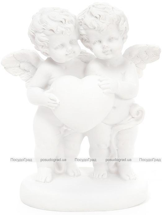 """Статуэтка декоративная """"Ангелы с белым сердцем"""" 12.4см"""