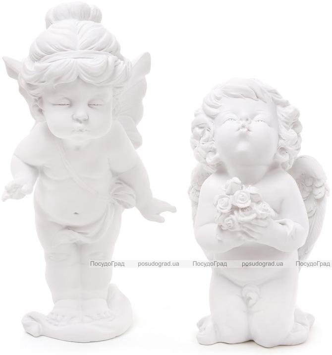 """Набор 2 декоративные статуэтки """"Целующиеся Ангелы"""" 27.7см"""