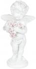 """Статуетка декоративна """"Ангел з оберемком троянд"""" 4.8х3.5х9.1см"""