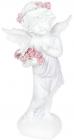 """Статуетка декоративна """"Ангел у вінку з троянд"""" 14.1х10.3х25.5см"""
