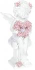 """Статуетка декоративна """"Ангел з серцем із троянд"""" 10.3х9х20.3см"""