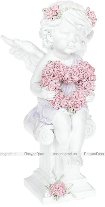 """Статуэтка декоративная """"Ангел с сердцем из роз"""" 10.3х9х20.3см"""