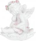 """Статуетка декоративна """"Ангел на квітці"""" 5.8х5.7х6.4см"""