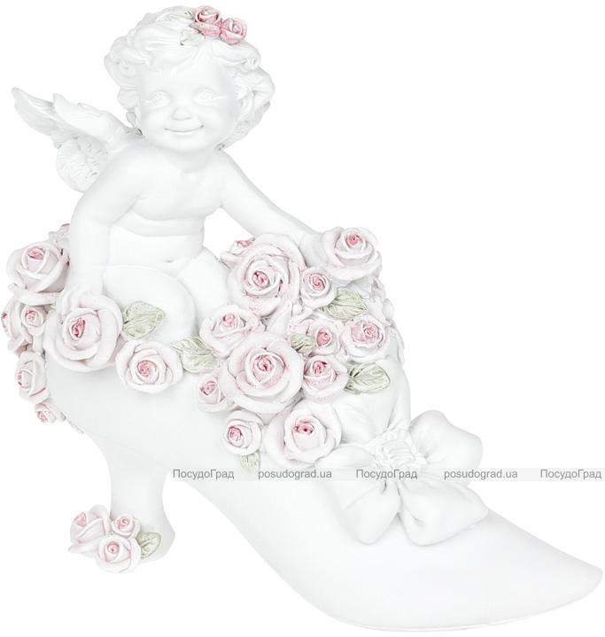 """Статуетка декоративна """"Ангел в туфельці"""" 7.5х16.1х14.9см"""