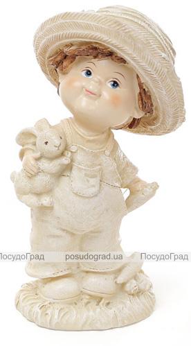 """Статуэтка декоративная """"Мальчик с зайчиком"""" 15.3см"""