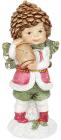 """Статуетка декоративна """"Малюк Ельф з ліхтарем"""" 5.9х5.9х14.4см, полістоун"""