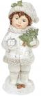 """Статуетка декоративна """"Хлопчик з Ялинкою"""" 8.5х7.5х20.7см, полістоун"""