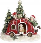 """Новорічна композиція """"Новорічні забави"""" з LED підсвічуванням 16х12.5х14.5см"""