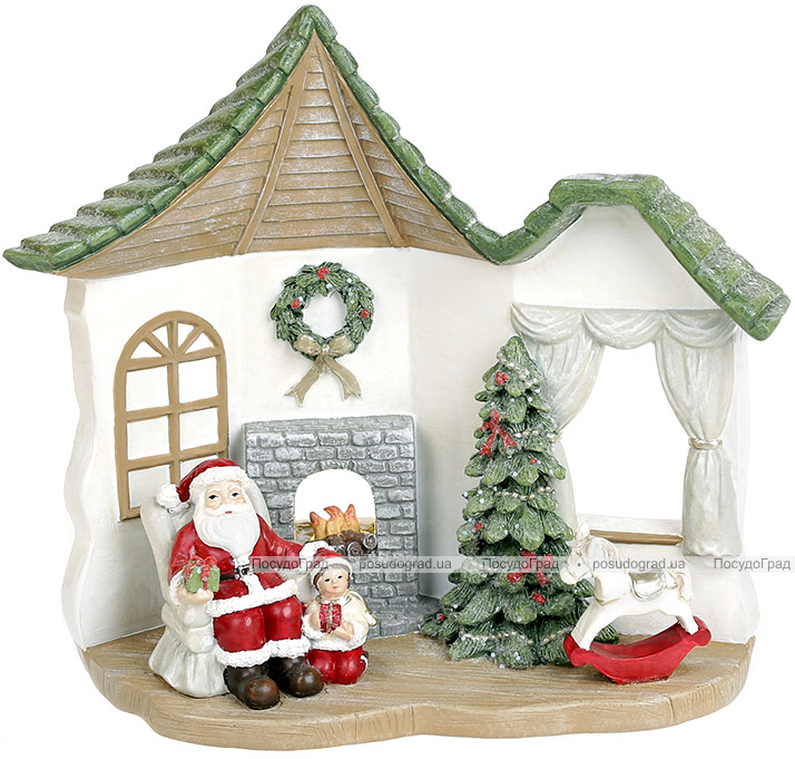"Новогодняя композиция ""Санта в гостях"" с LED подсветкой 16х9.5х17.5см"
