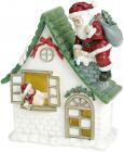 """Новорічна композиція """"Санта у гостях"""" з LED підсвічуванням 14.5х8х19.5см"""