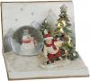 """Новорічна композиція """"Хлопчик зі Сніговиком"""" з LED підсвічуванням 16х16х11.5см"""