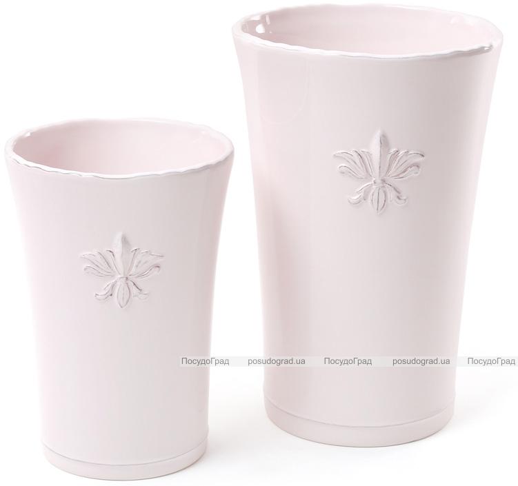"""Ваза для цветов Shabby Chic """"Розовая Лилия"""" 23см керамическая"""