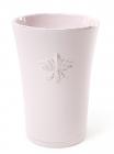 """Ваза для квітів Shabby Chic """"Рожева Лілія"""" 17см керамічна"""