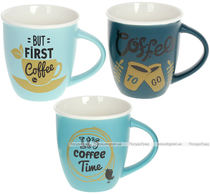 "Кружка порцелянова ""Always Good"" 380мл ""Its Coffee Time"""