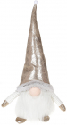 М'яка іграшка «Гномик» Beige з LED підсвічуванням 17х13х39см