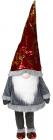 Мягкая игрушка «Гномик» Grey 43х30х123см в красных пайетках