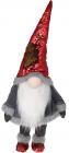 М'яка іграшка «Гномик» Grey 40х27х90см в червоних пайєтках