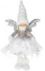 М'яка іграшка «Дівчинка-Ангел» White&Silver 24х14х43см