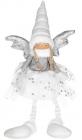 М'яка іграшка «Дівчинка-Ангел» White&Silver 26х15х57см