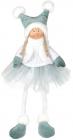 М'яка іграшка «Дівчатко в спідничці» Mint 20х12х43см, сидяча