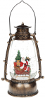 """Новогодний декоративный фонарь """"Санта в санях"""" 24.5см с LED подсветкой, подвесной"""