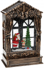 """Новогодний декоративный фонарь """"Щедрый Санта"""" 25.5см с LED подсветкой, подвесной"""
