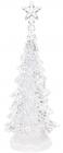 Декоративная ёлка с LED подсветкой 32см, прозрачный пластик