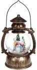 """Новорічний декоративний ліхтар """"Створення Сніговика"""" 20.5см з LED підсвічуванням, підвісний"""