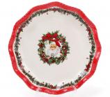 """Набор керамических тарелок """"С Рождеством! Санта"""" Ø21см"""