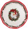 """Блюдо керамическое """"С Рождеством! Санта"""" Ø30см"""