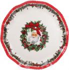 """Блюдо керамічне """"З Різдвом! Санта"""" Ø30см"""