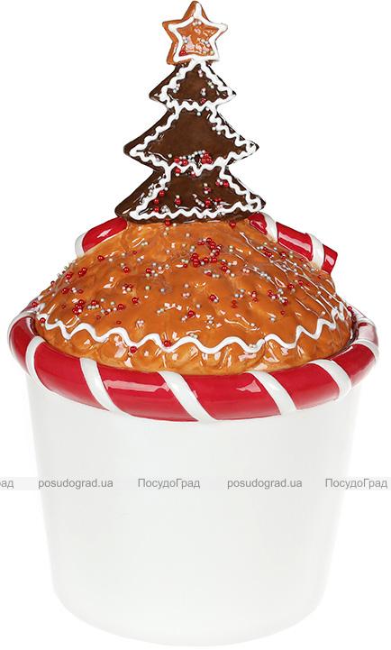 """Банка для сладостей """"Печенье и Карамелька» 2л керамическая"""