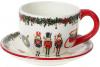 Чайная пара «Щелкунчик - симфония детства» чашка 300мл с блюдцем, керамика