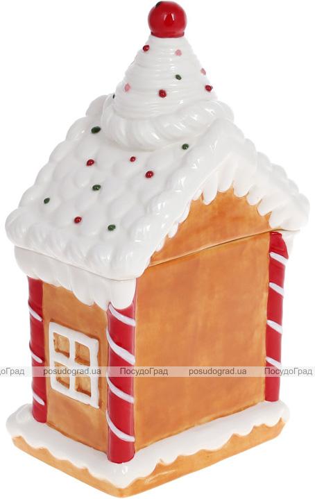 "Банка для сладостей ""Пряничная Сказка"" Домик 17х11х27см, 920мл, керамика"