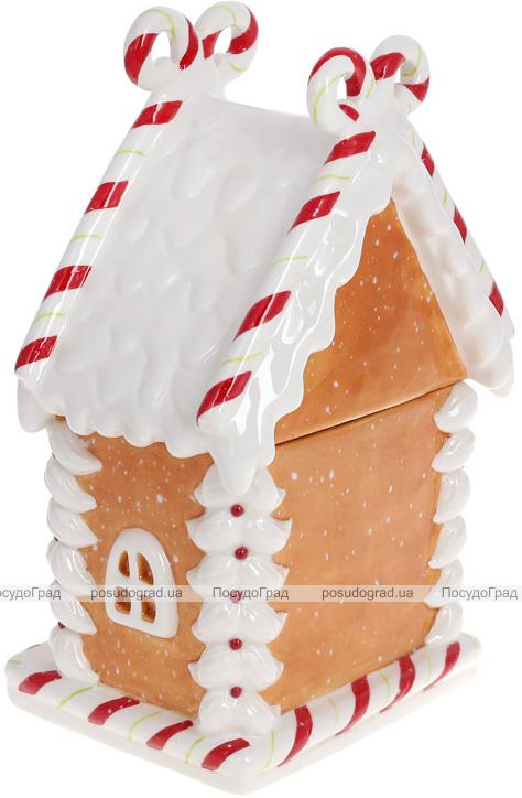 """Банка для сладостей """"Карамелька"""" Домик 15х13х27см, 1.1л керамика"""