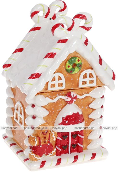 """Банка для солодощів """"Карамелька"""" Будиночок 11х10х19см, 430мл, кераміка"""