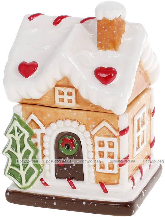 """Банка для сладостей """"Воздушный Крем"""" Домик 9х8х13см, 180мл, керамика"""
