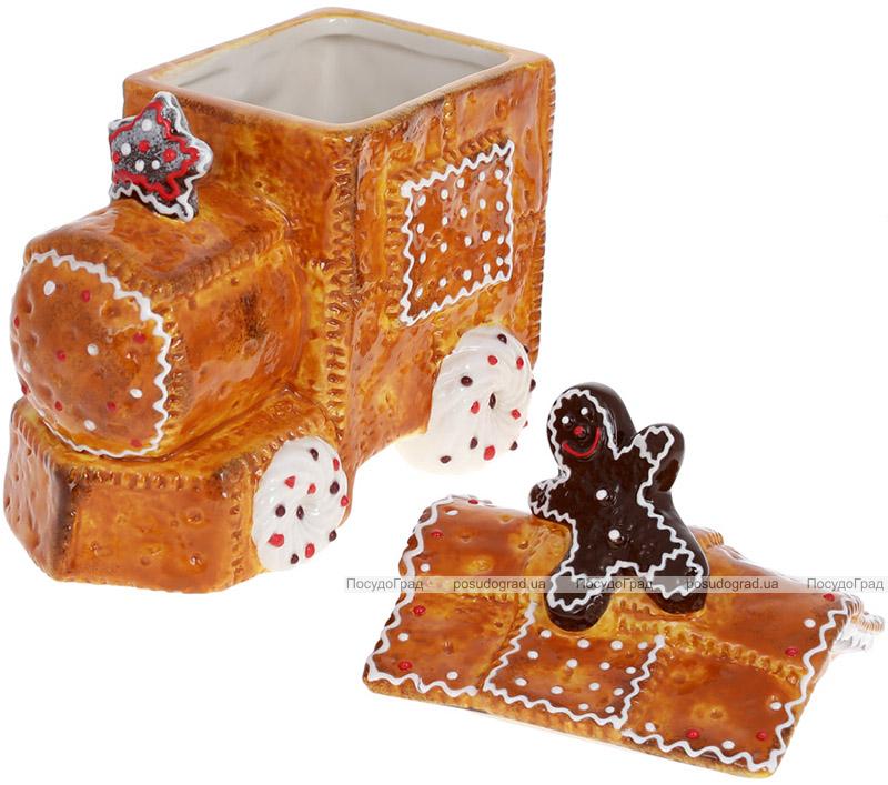 """Банка для солодощів """"Пряниковий Паровоз"""" 19х11х21см, 900мл, кераміка"""