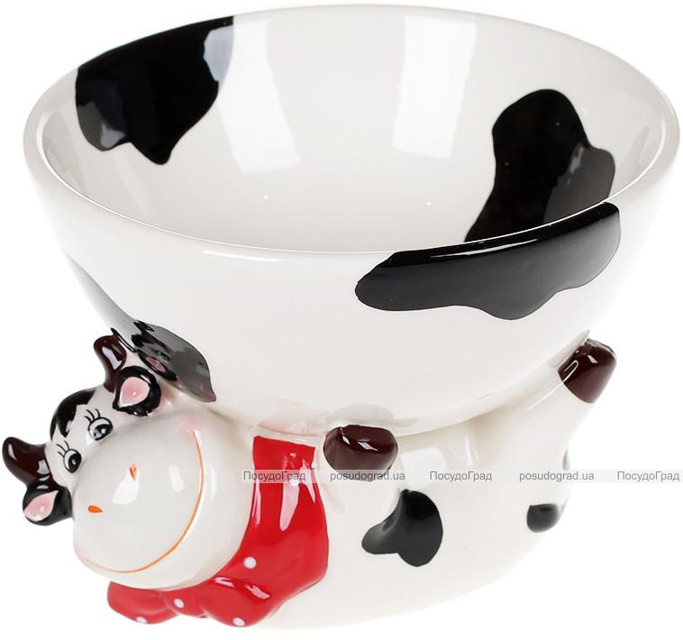 Салатник керамический «Коровка Глория» 500мл, с фигуркой