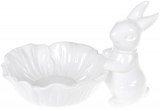 "Блюдо-конфетница ""Кролик с цветком"" 29х20х19см, керамика"