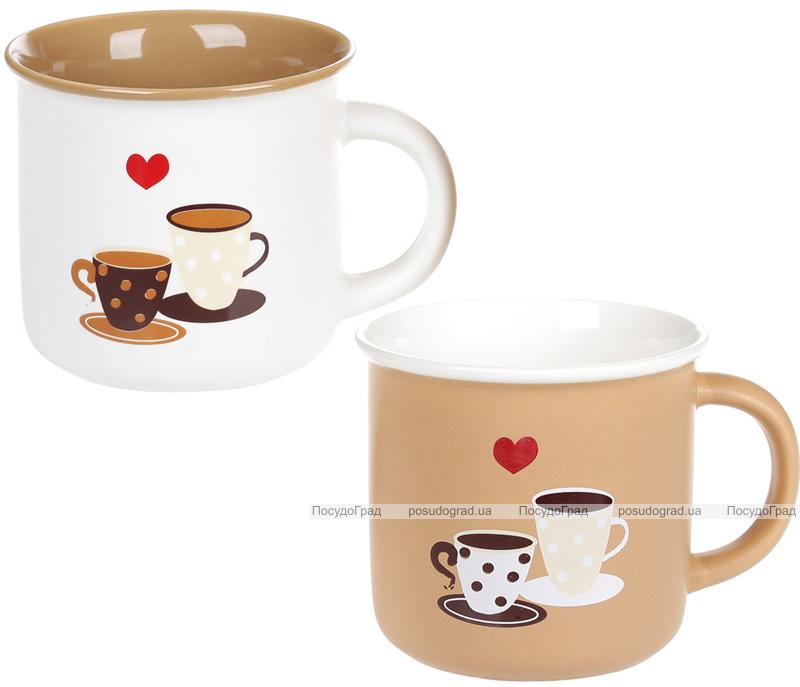 """Кружка """"Кава для двох"""" 380мл фарфорова"""