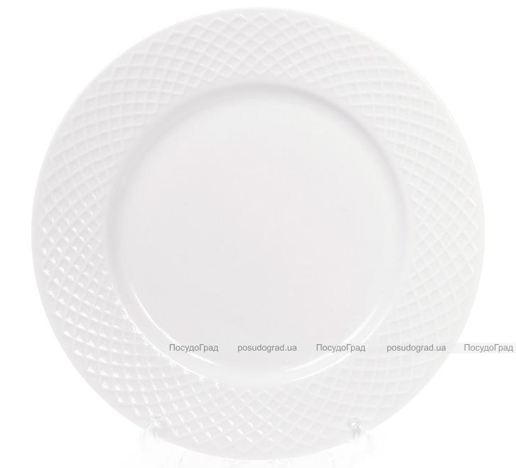 Набор 12 фарфоровых тарелок Emilia-Romagna Ø20.5см, десертные (сетка)