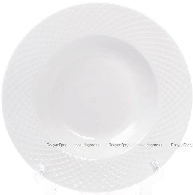 Набір 6 порцелянових тарілок Emilia-Romagna Ø22см, порційні (сітка)