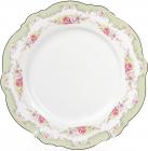 Набор 8 фарфоровых обеденных тарелок Bristol Ø27.5см, мятный цвет