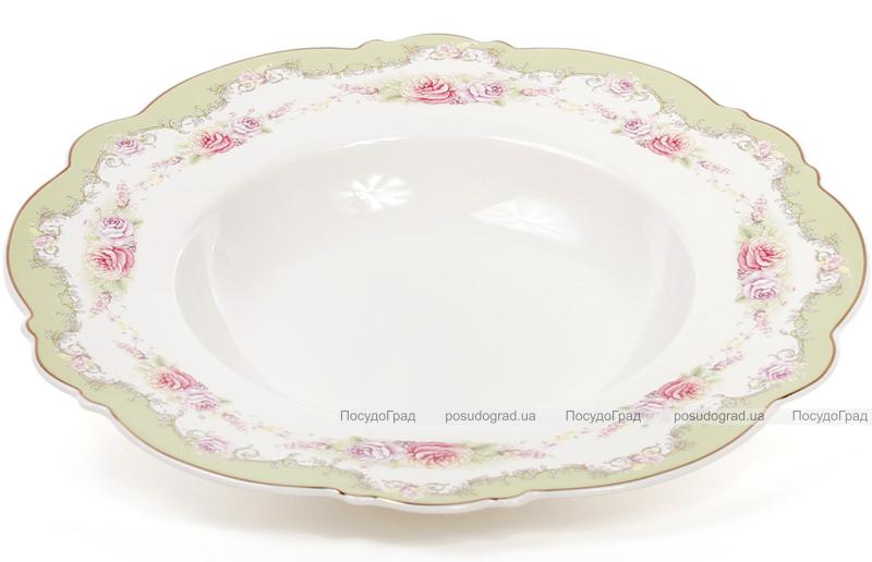 Набір 6 порцелянових обідніх супових тарілок Bristol Ø23см, м'ятний колір
