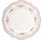 Набор 8 фарфоровых десертных тарелок Bristol Ø21см, розовый цвет