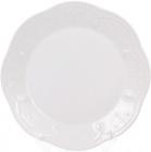 Набор 6 обеденных тарелок Leeds Ceramics Ø28.5см, каменная керамика (белые)