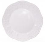 Набір 6 десертних тарілок Leeds Ceramics Ø23см, кам'яна кераміка (білі)
