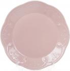 Набор 6 обеденных тарелок Leeds Ceramics Ø28.5см, каменная керамика (розовые)