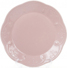 Набір 6 обідніх тарілок Leeds Ceramics Ø28.5см, кам'яна кераміка (рожеві)